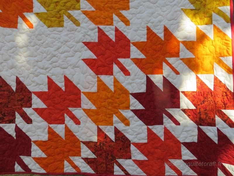 patchwork feuille d'érable