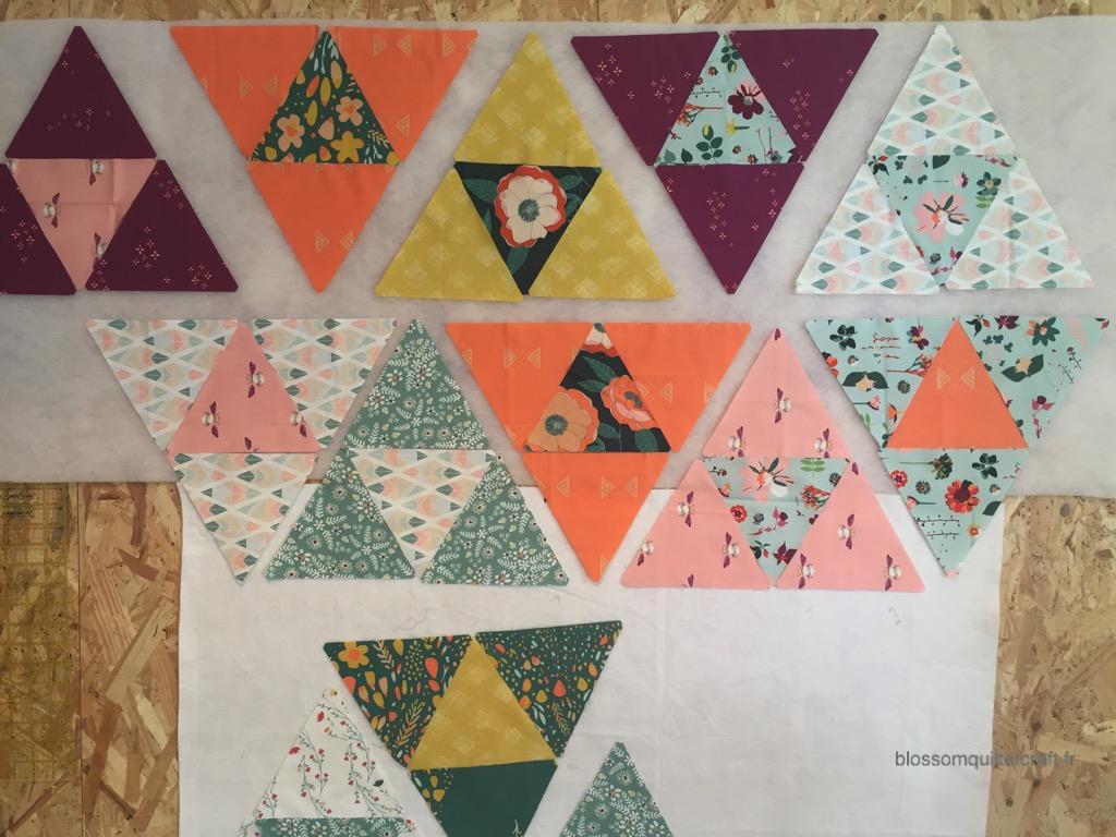 design wall triangles garden dreamer tissu
