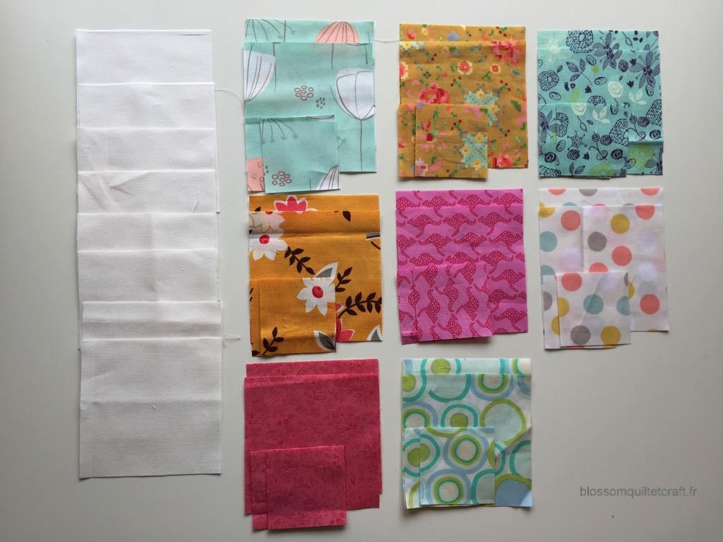 choix des couleurs de patchwork