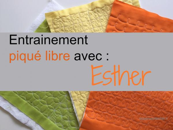 """On s'entraine au piqué libre avec Esther de """"I Patch & Quilt"""""""
