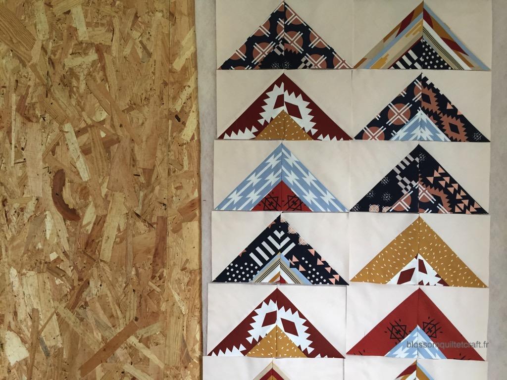 patchwork moderne triangles