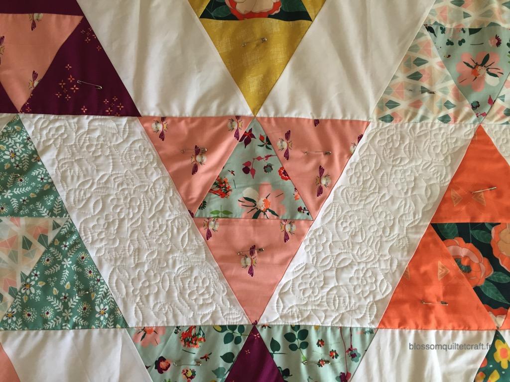 Quilting piqué libre un patchwork triangle