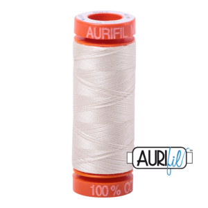 Fils Aurifil Mako 50 Silver White 2309
