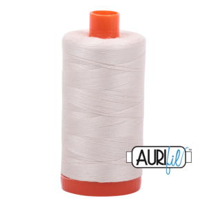 Aurifil Mako 50 Silver White 2309