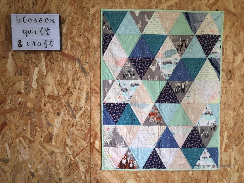 quilt triangle pour débutant