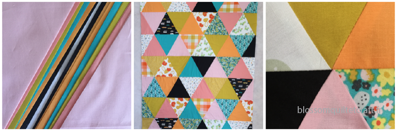 day trip quilt triangle