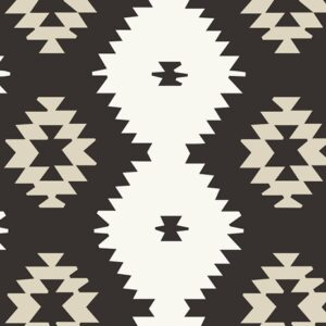 Art Gallery Fabrics LVS - Daring Tribal Noir