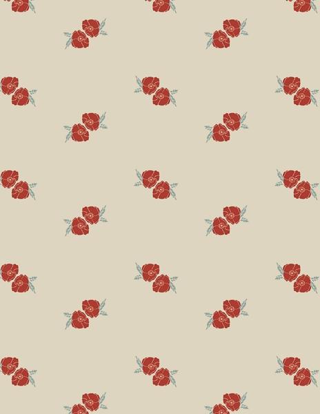 Art Gallery Fabrics LVS - Flower Stamp Charm
