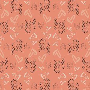 Art Gallery Fabrics LVS - Hearts Fletching Blush