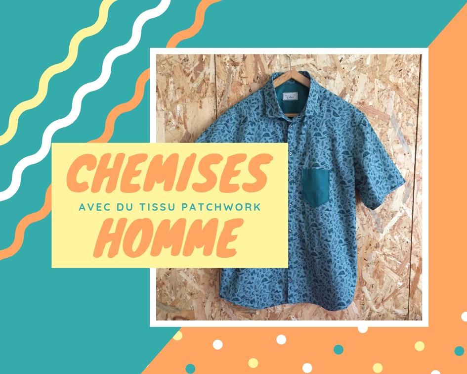 Couture chemise pour homme avec du tissu patchwork