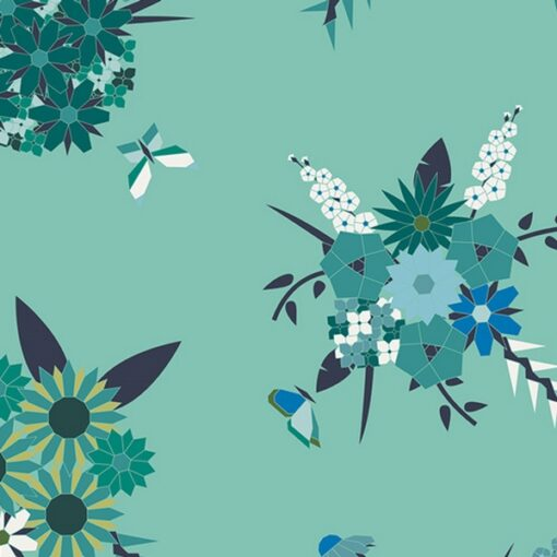 Art gallery fabrics Pieced Bunches Cool