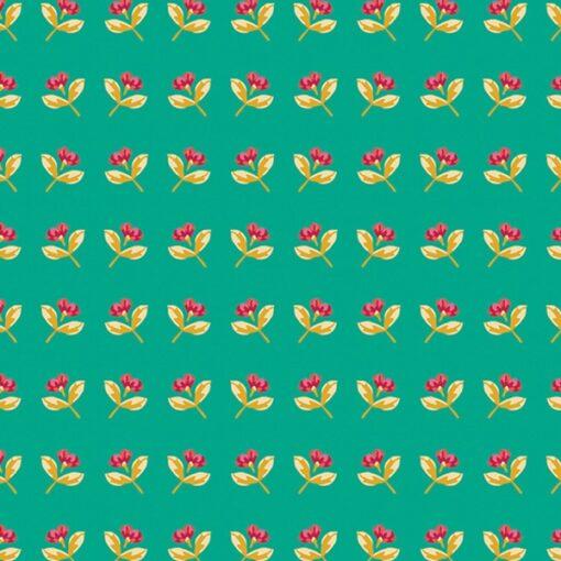 Art gallery Fabrics SKS - Basking Buds Jade