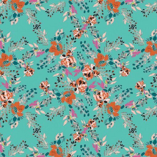 Art gallery VRT-21804_Episodic Blooms Aqua