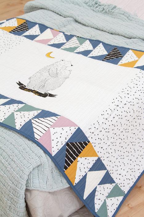 kit patchwork pour enfant Pine-Lullaby-Rediscovered-Bed-Runner-4